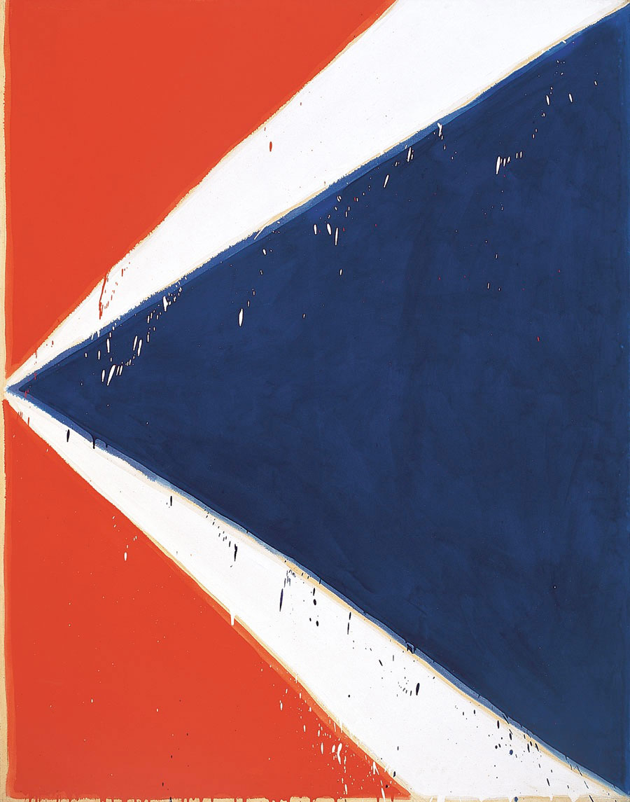 Sans titre ou K (bleu, blanc, rouge), 212 x 168 cm