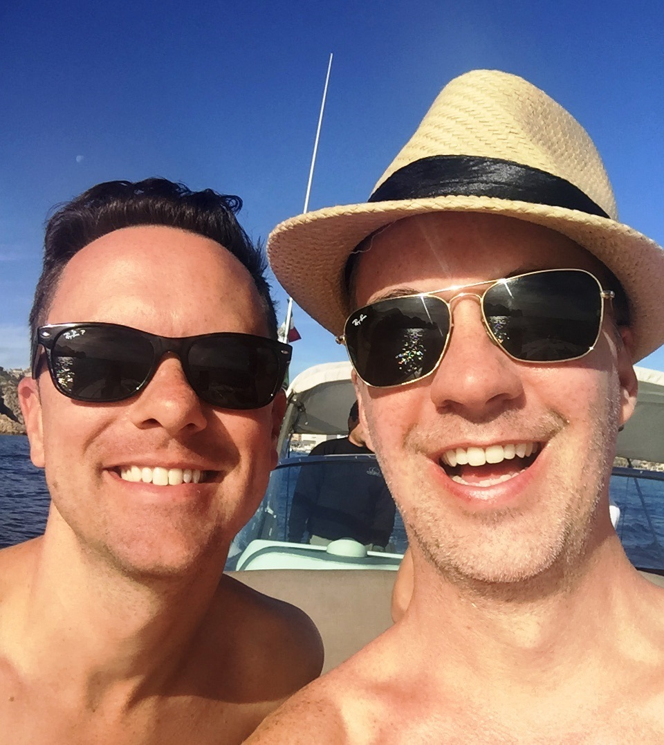 Martin (left) and Trey in Mexico's Sea of Cortez; Jan 2016.
