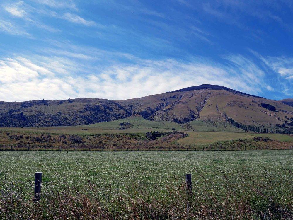 The scenery around Lake Te Anau, the gateway to Fiordland National Park (Jan 10).