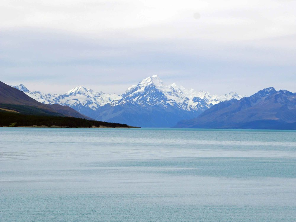 Stunning Mt. Cook is New Zealand's highest mountain with Lake Pukaki in the foreground (Jan 10).