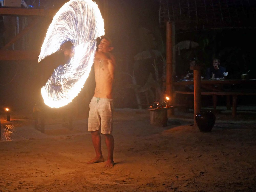 Ume Restaurant has a nightly fire dance, set to the pulsating sounds of the latest mixed tracks.