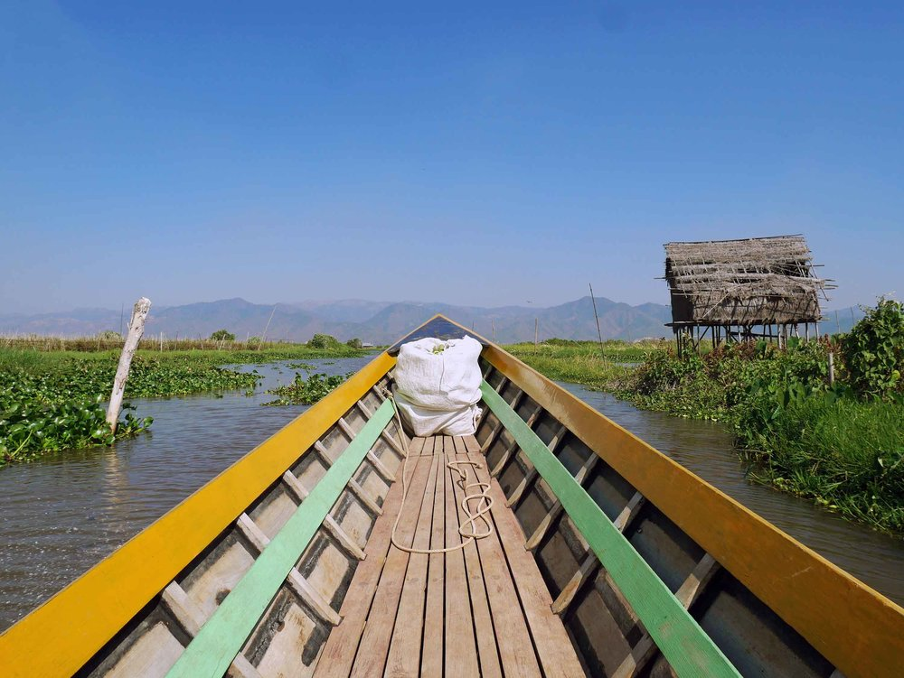 Finally! We arrived to Inle Lake where we were ferried to our hotel in the north (Feb 21).