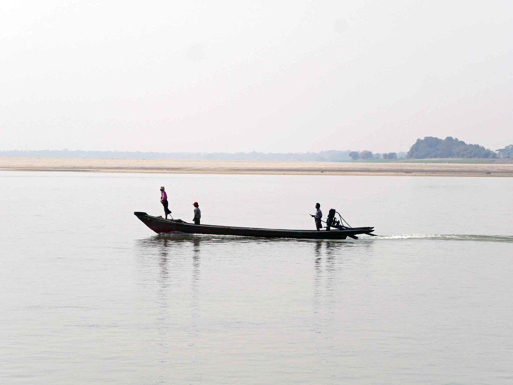 Broad and long, the Irrawaddy snakes its way through Myanmar from north to south (Feb 17).