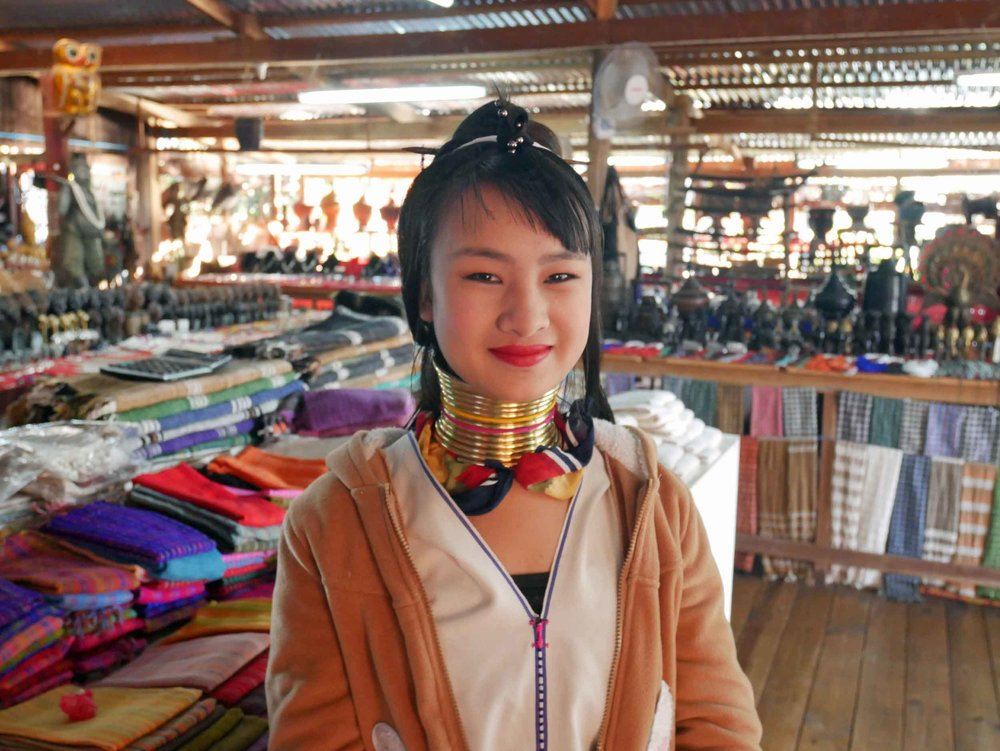 The Kayan long neck women start to wear brass rings as early as five years old and add to them at certain age milestones (Feb 22).