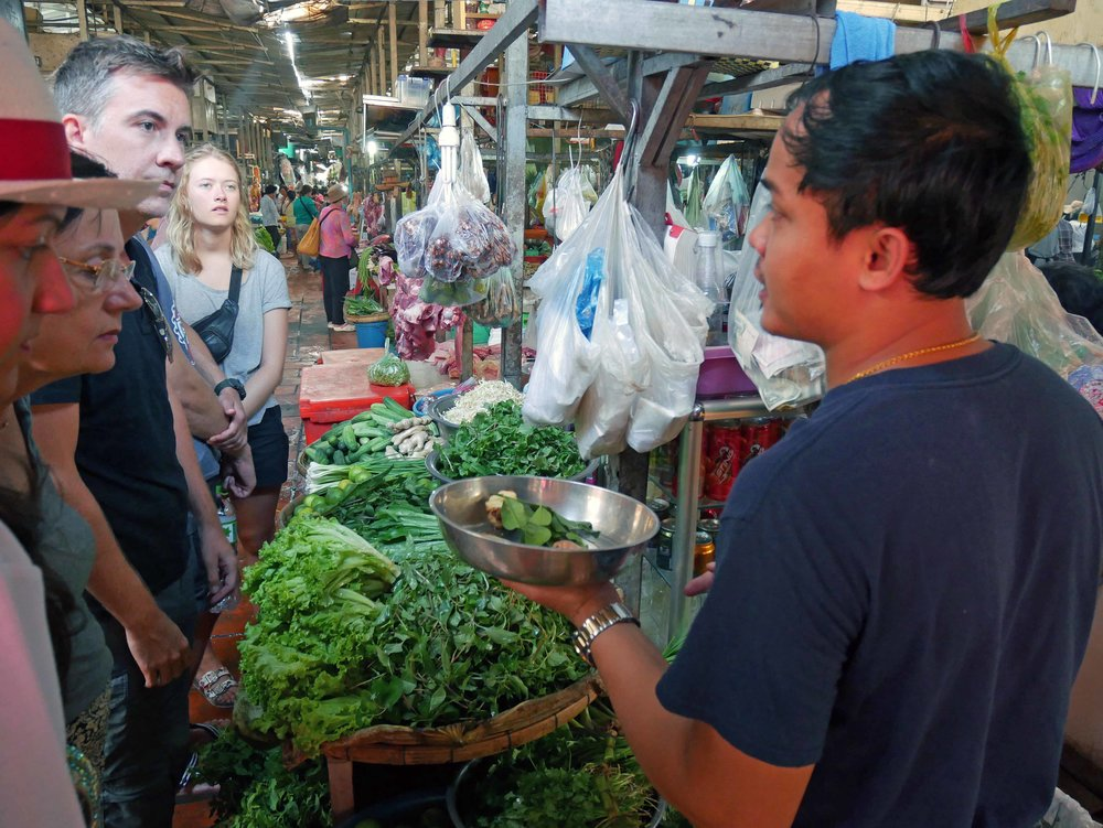 Our instructor, Khai, helped us buy the various herbs and spices that we would later use in our cooking (March 10).