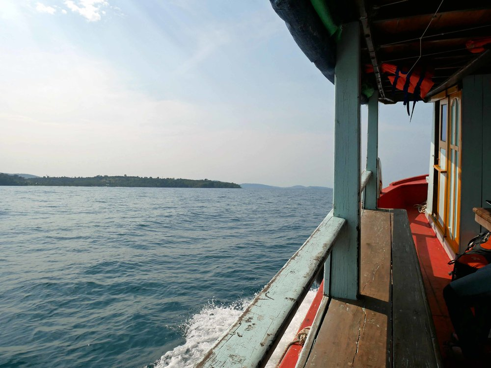 We took a 2-hour boat from Sihanoukville on the southern coast to the idyllic island of Koh Rong (March 2).