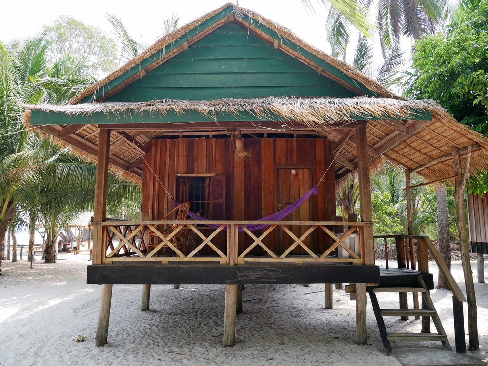 Bungalow No. 1, just metres from the ocean waters, was ours for a full week (March 2).
