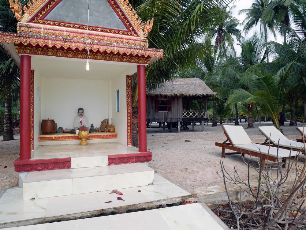 Locals and staff brought daily offerings to a small shrine just in front of our bungalow (March 8).