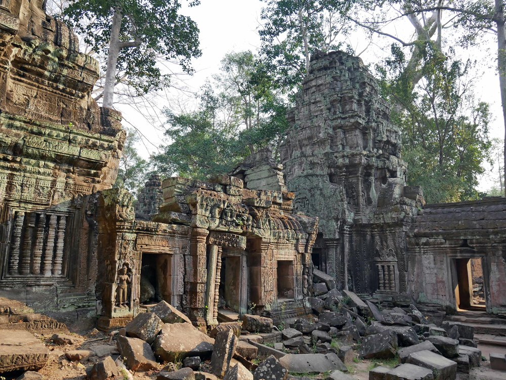 After the 15th century (and fall of the Khmer Empire), Ta Prohm along with the other temples throughout Angkor Wat were largely neglected until recently (Feb 27).