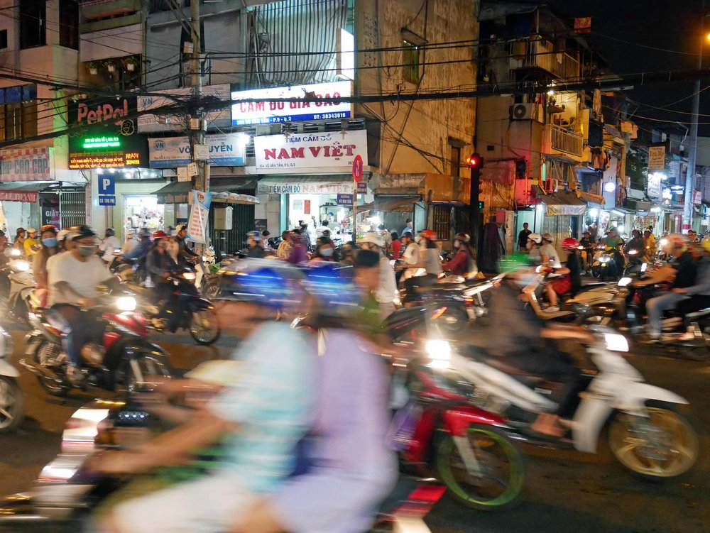 We arrived in buzzing Ho Chi Minh City after an eight hour bus ride from Phnom Penh, Cambodia's capital (March 12).