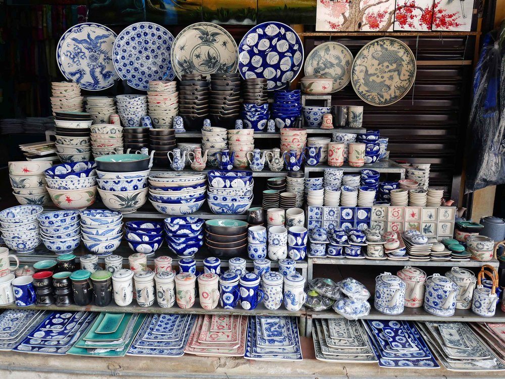 There is a rich history of Vietnamese ceramics here, even a museum dedicated to the craft, and many of the shops offered a modern version.