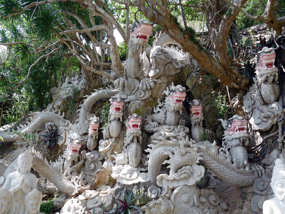 On our drive from Hoi An to Hue, we stopped at Marble Mountain, which is dotted with Buddhist and Hindu grottoes (March 18).