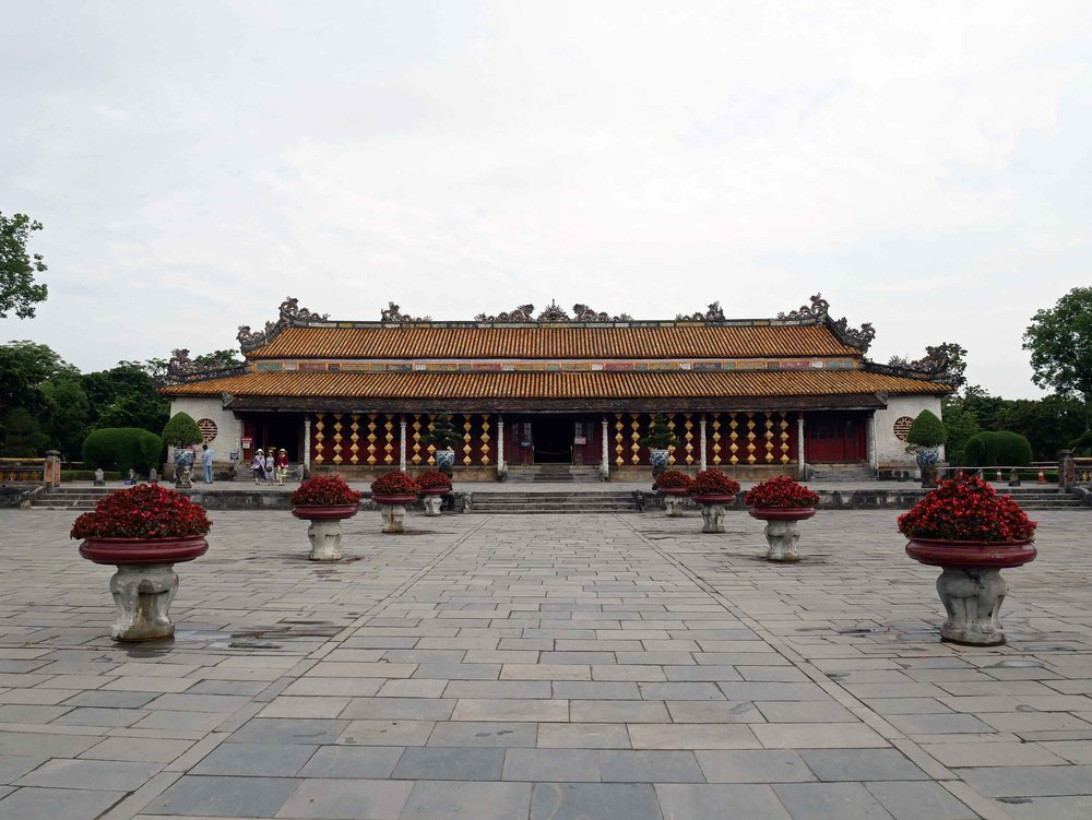 Once entering the main gate, we came upon Dien Thai Hoa, or Throne Palace, where the former dynasty would take meetings.