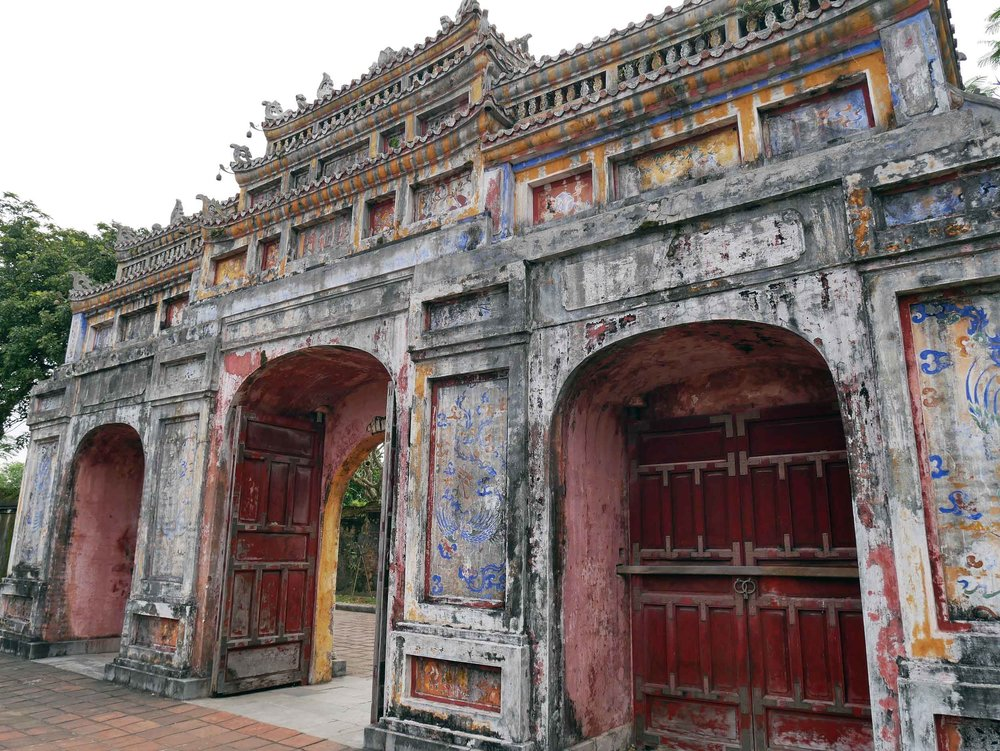 Although ignored for many years, the Imperial City is undergoing restoration, but we loved the faded colors and crumbling walls throughout the imposing palace.