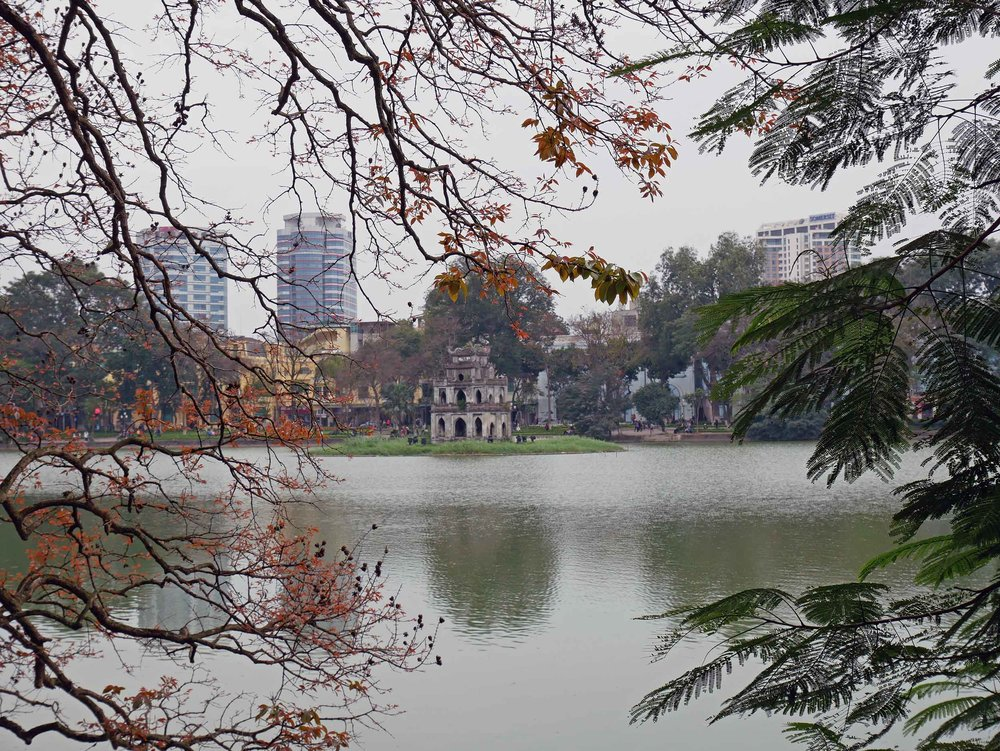 Hanoi features an Old Quarter, with narrow streets overloaded with myriad motorbikes and vendors. In the middle of this frenetic area, we found peaceful Hoan Kiem Lake (March 20).