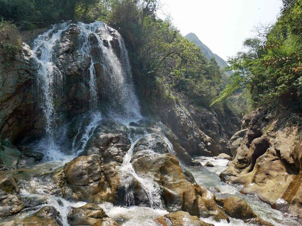Silver Waterfalls in Cat Cat village (Mar 23).
