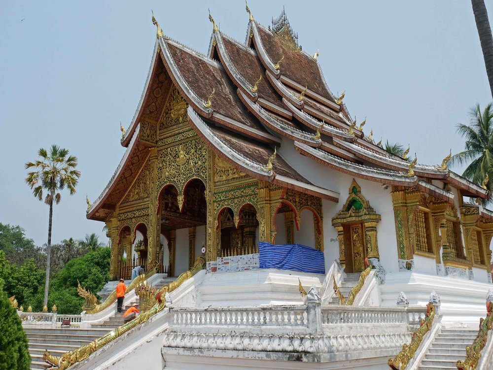Luang Prabang is the former capital of Laos, and its royal palace glittered in the bright sun.