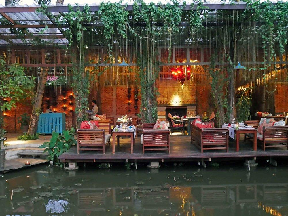 We had a delicious Lao-French dinner at dreamy Manda de Laos, set upon several UNESCO designated lotus ponds.