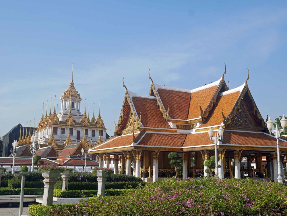 Our first stop was Bangkok's Royal Pavilion Mahajetsadabadin, built in 1989 for the King to receive visitors.