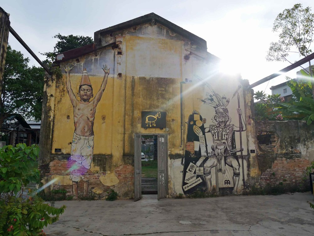 The Hin Bus Depot Art Center in Penang's George Town is an inspiring spot surrounded by galleries, cafes, and even yoga (April 25).