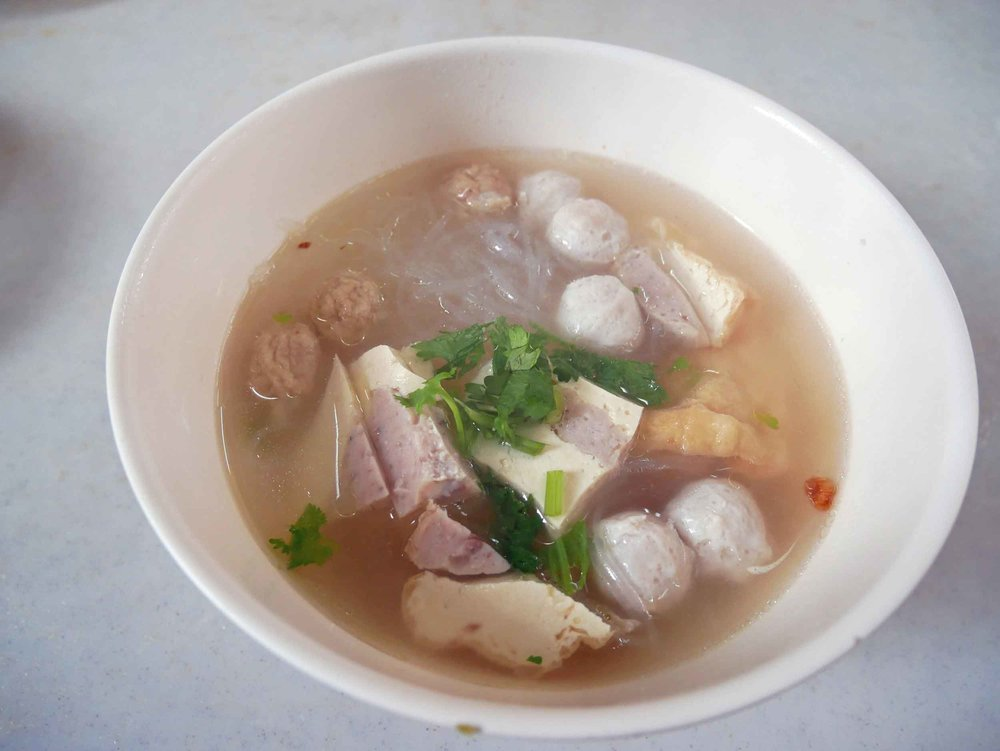 Another specialty here is  Tang Hoon , or fish ball soup.