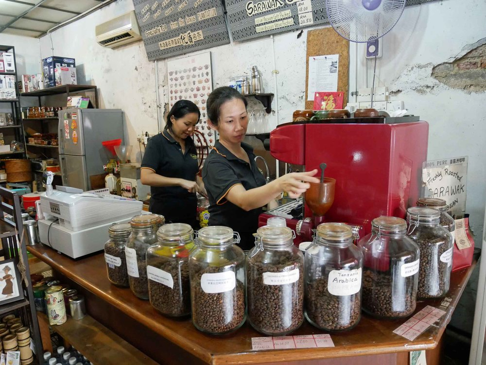 A favorite here is the local Sarawak roast coffee, and we headed to Black Bean for a cup of delicious brew.