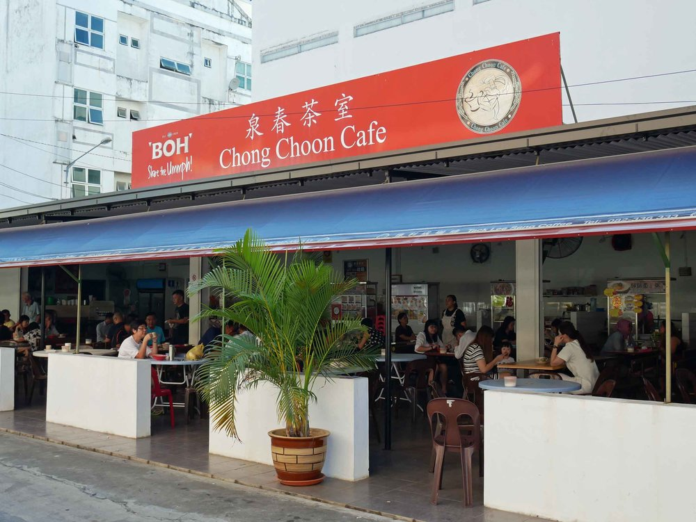 A local favorite, we headed to Chong Choon Cafe several mornings for our bowl of steaming  prawn laksa  and iced coffees (May 4).