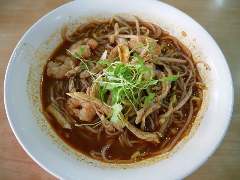 The prawn laksa here is spicy and rich, really getting you ready for the heat of the day ahead on Borneo.