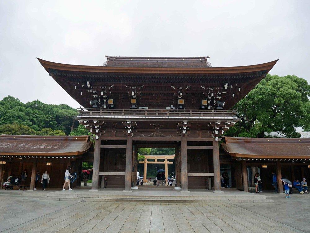 Meiji-jingu Shrine temple.