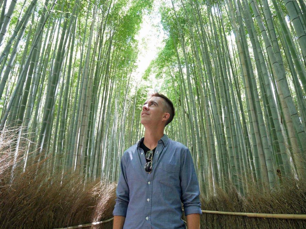 Trey taking in the Arashiyama Bamboo Grove (June 17).