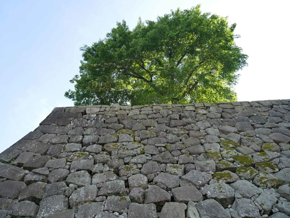 Impressive periphery wall of the Kanazawa Castle.