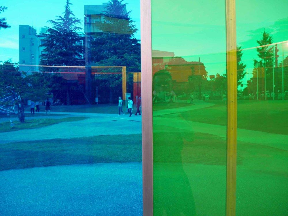 A colorful exhibit at the Kanazawa Modern Art Museum.