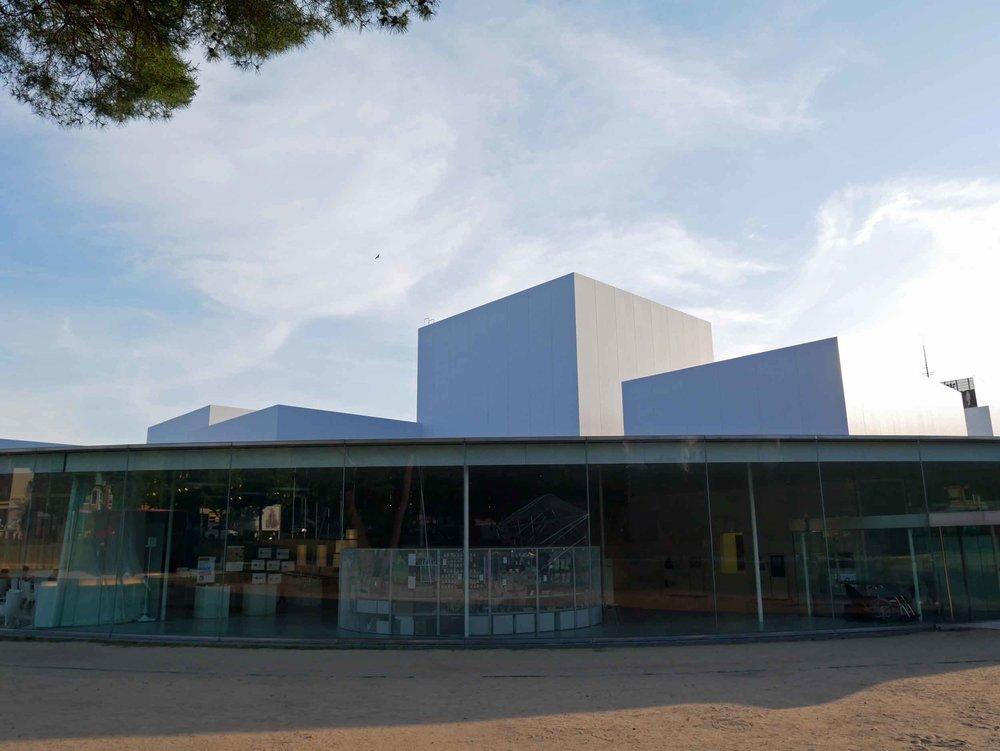 The Kanazawa Modern Art Museum.