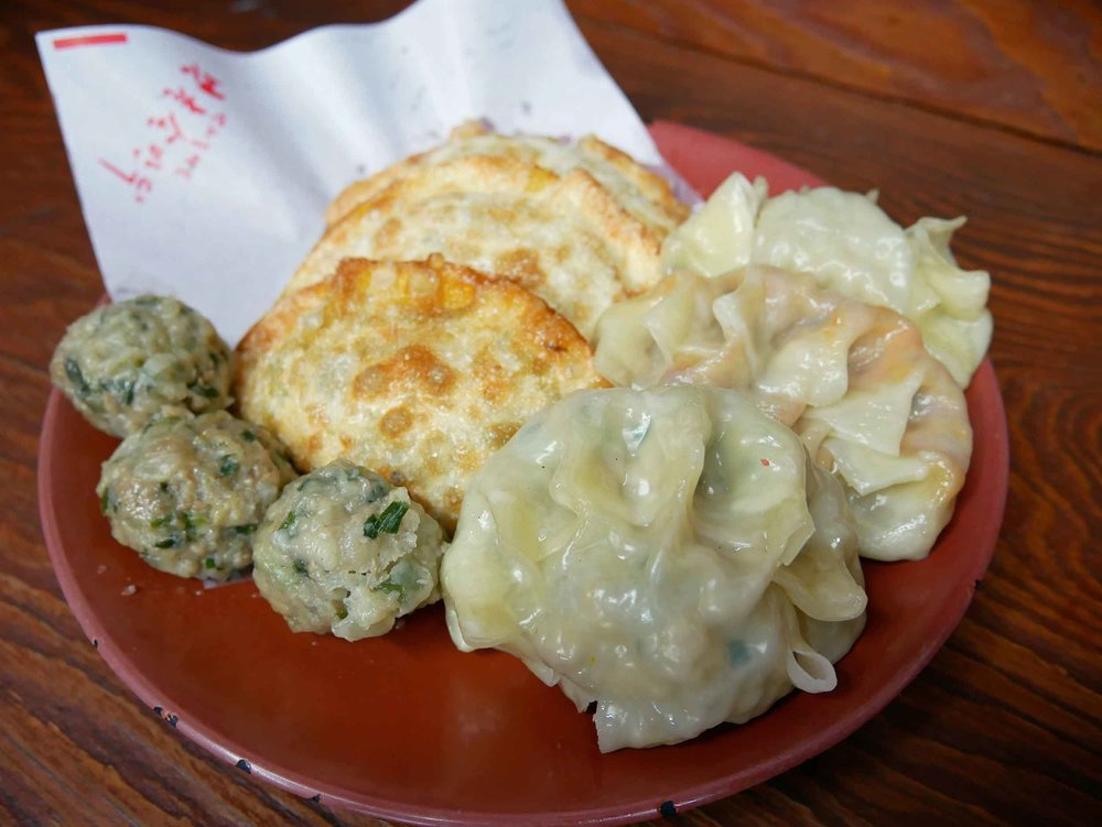 Here, we tried both steamed and fried  mandu , Korean for dumplings.