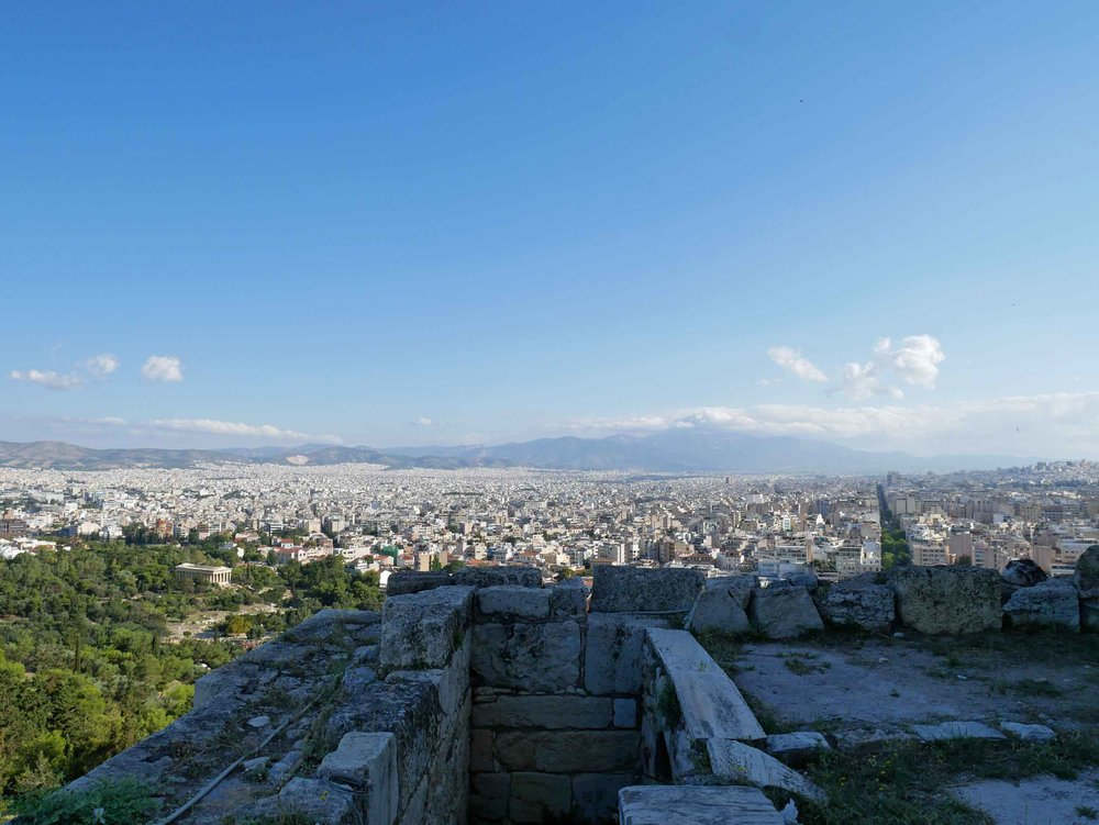 The Acropolis, or fortified city on the hill, dates from the 5th century BC.