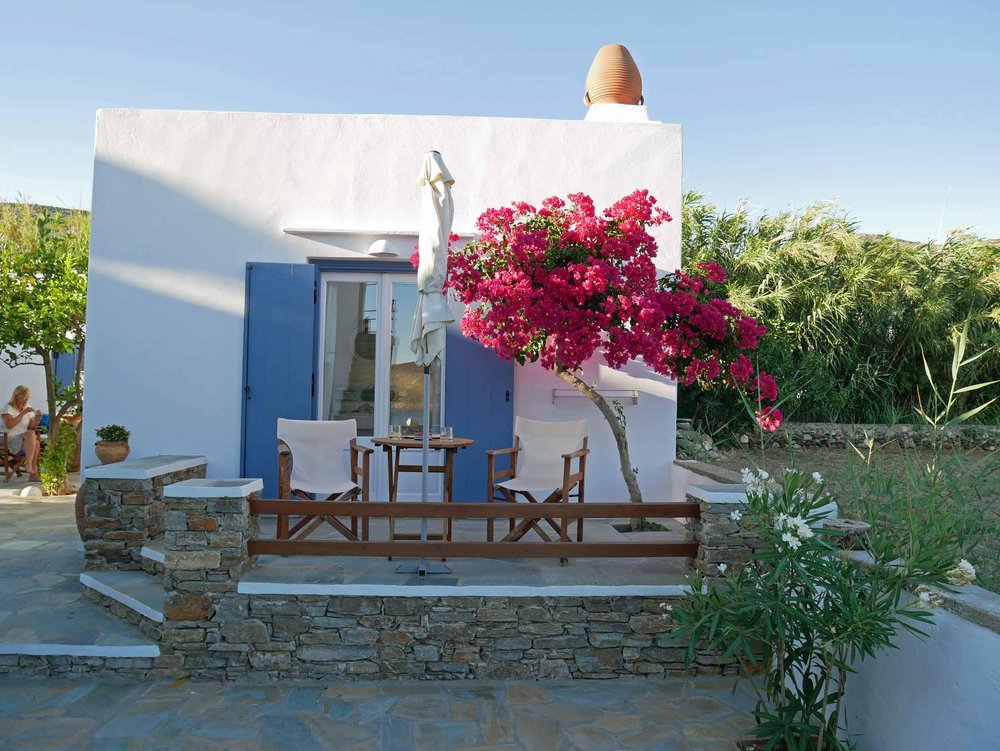 Our beautiful little bungalow complete with sprawling bougainvillea