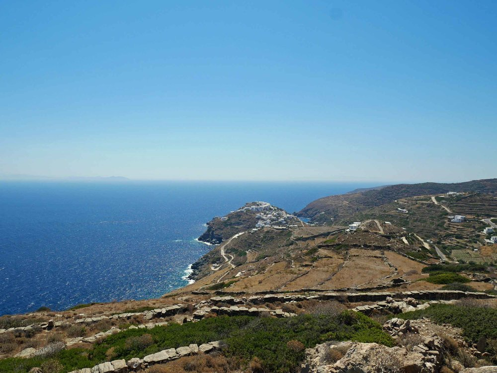 View of the ancient seaside village of Kastro as we ventured for our only excursion out of the bay of Vathi during our week on Sifnos (July 10).