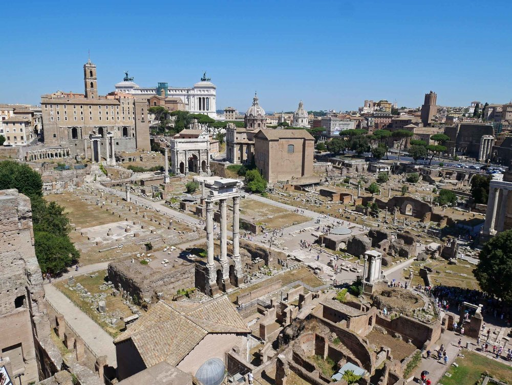 A stroll through the Roman Forum unveiled many an antiquity and ruin.