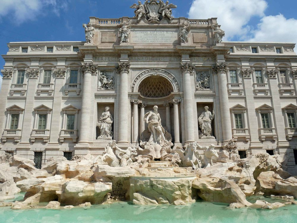 The Trevi Fountain had stopped running but was still breathtaking to behold.