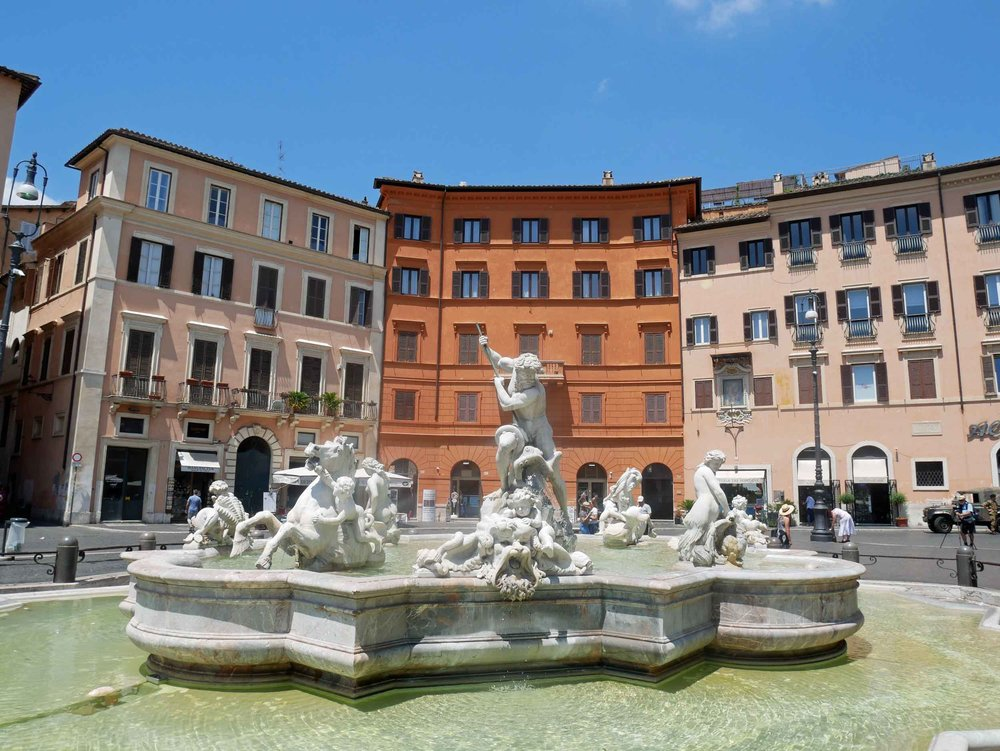 Colorful Piazza Navona is an iconic Italian square and has been featured in movies and literature from Dan Brown's  Angels & Demons  to  National Lampoon's European Vacation .