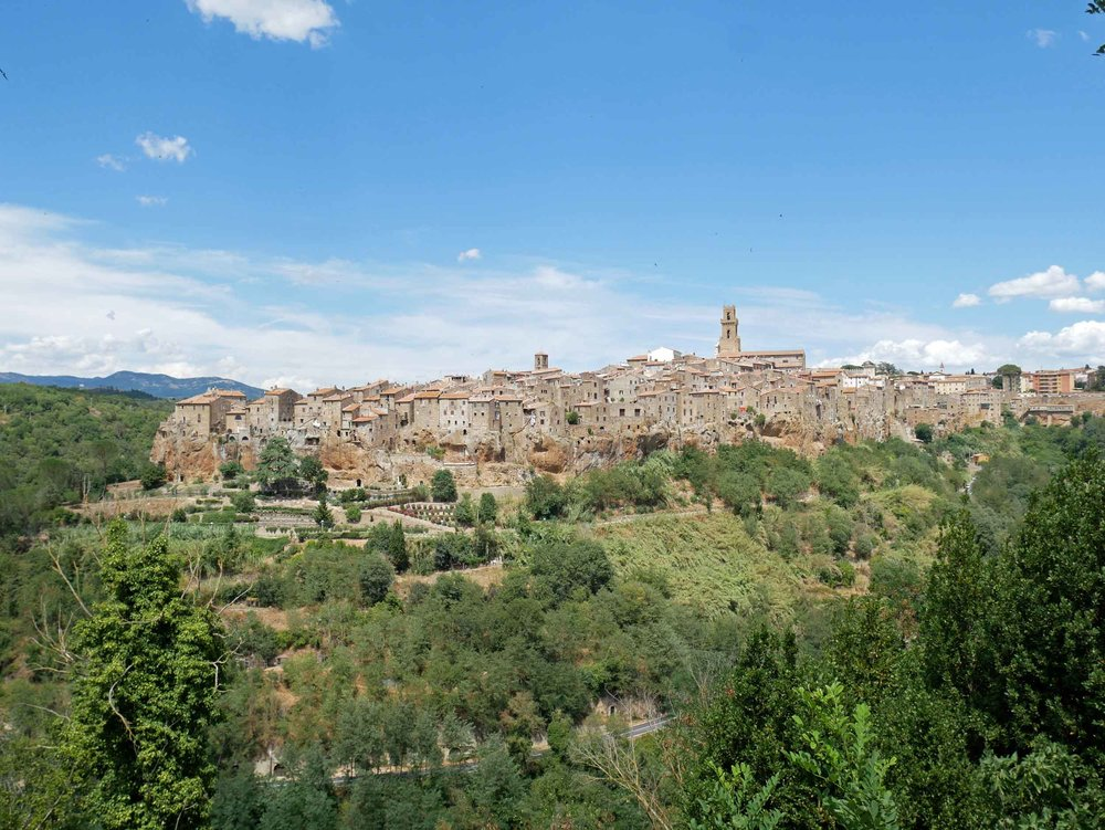 The village of Pitigliano appears to be carved straight from the rock upon which it sits.