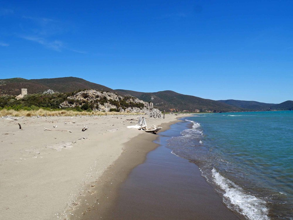 We spent several days here at Maremma National Park where we laid in the sun and floated in the sea (July 17).