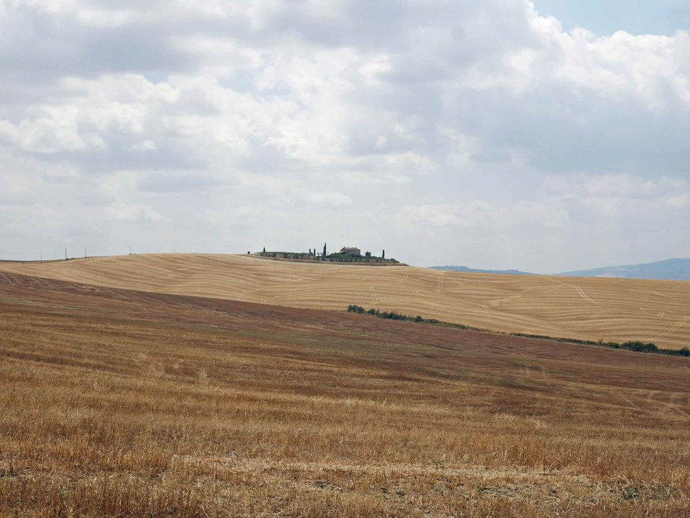 As we made our way east, there was rugged, dry farmland as far as we could see (July 22).