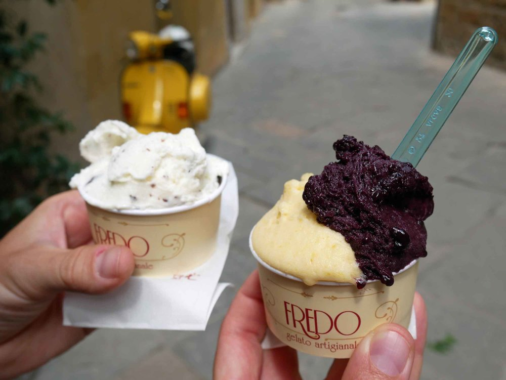 After lunch in Pienza, we treated ourselves with a stop by the local gelateria.