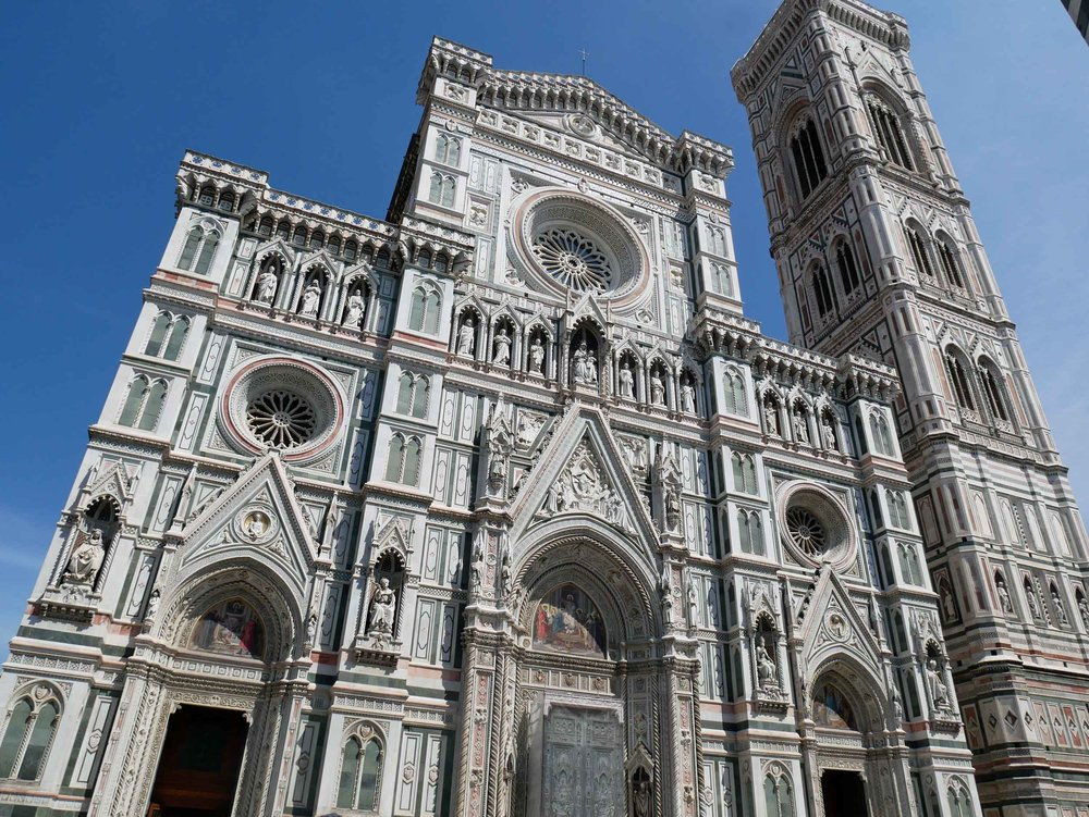 Our final day in Italy brought us to fabulous Florence and it's breathtaking architecture and history. Here, the famous Cathedral (July 27).