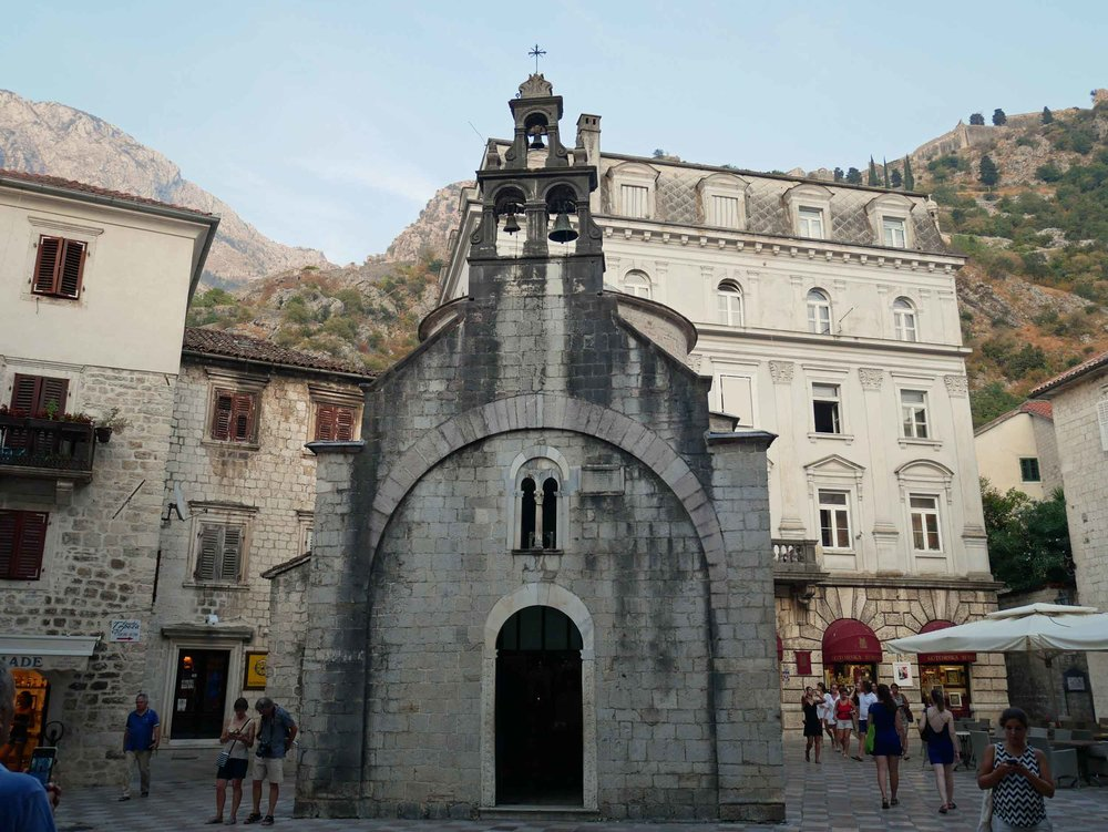 There are numerous churches inside the old city walls of Kotor, such as the slight Church of St. Luke, which was built in the 12th century.