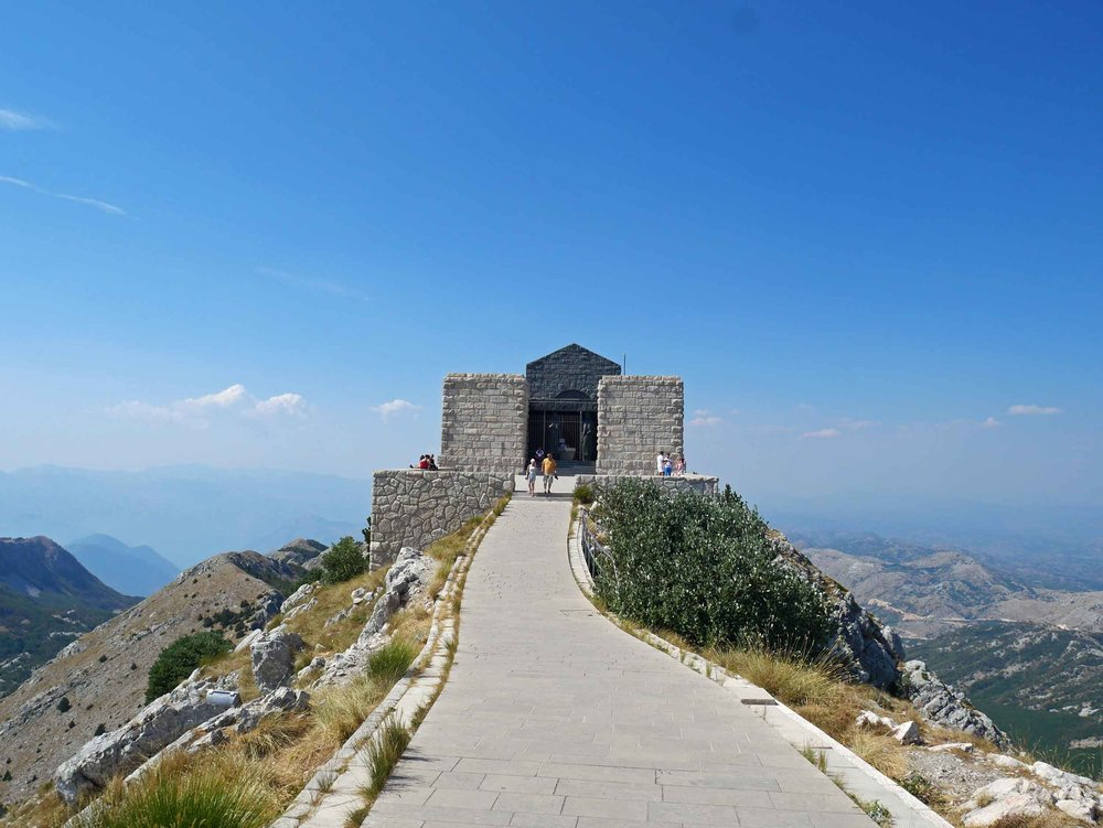 Lovcen is home to Njegoš Mausoleum, built on the park's second highest peak (1657m) honoring the country's greatest hero.