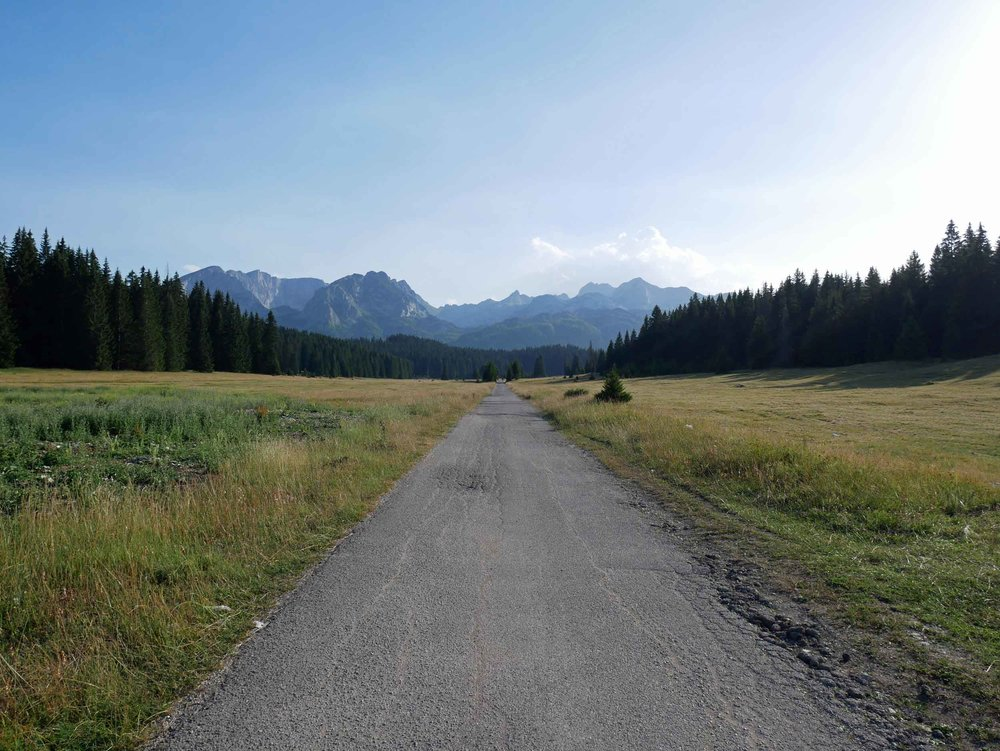 One of the beautiful country roads that led through Durmitor park.