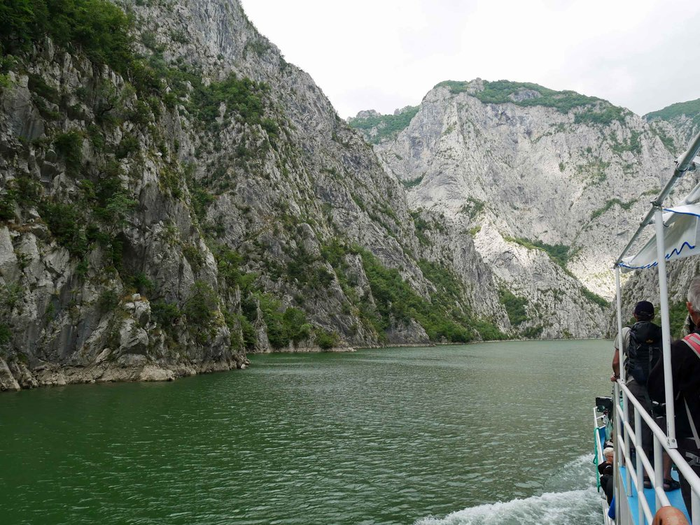The next day, we took a ferry up the Koman Reservoir, which is surrounded by near vertical canyon walls, toward the village of Valbona where we would begin our trek (Aug 14).