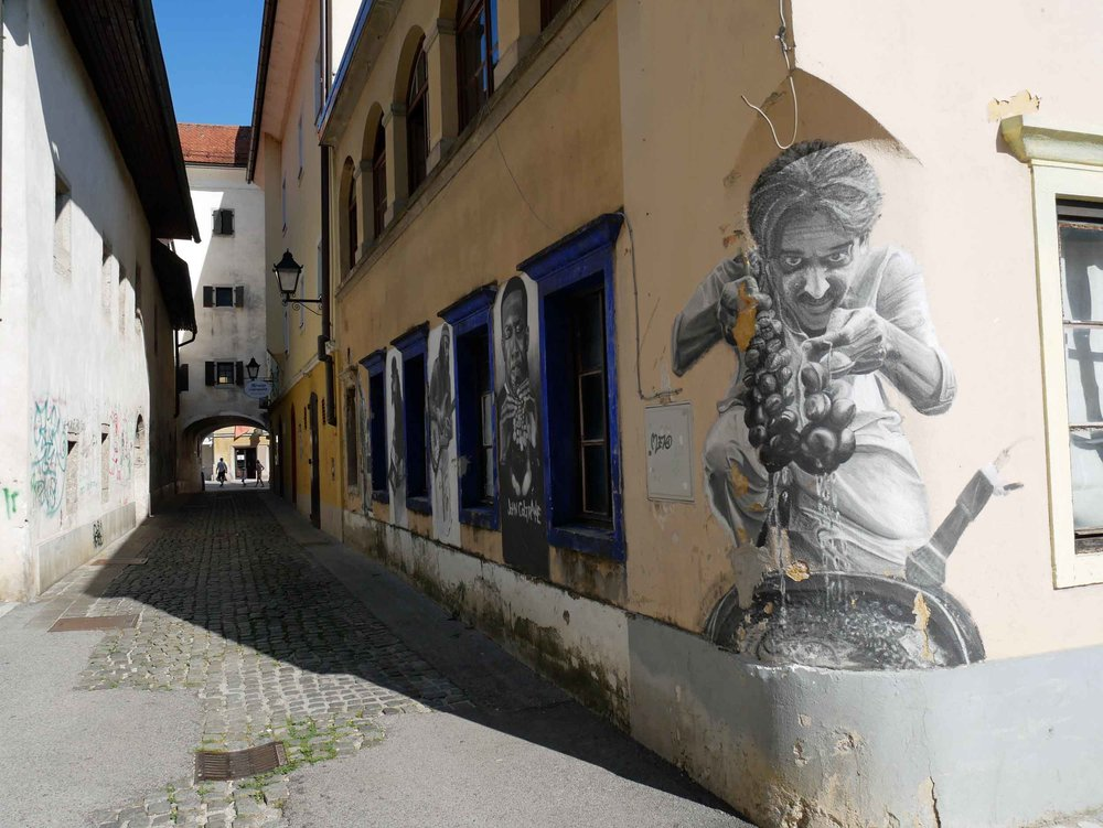 Just outside of the country's capital city, Kranj offered an alternative artsy side with street art, galleries and boutique shops.